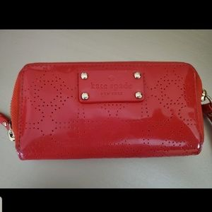 Kate Spade New York Patent Leather Red Wristlet